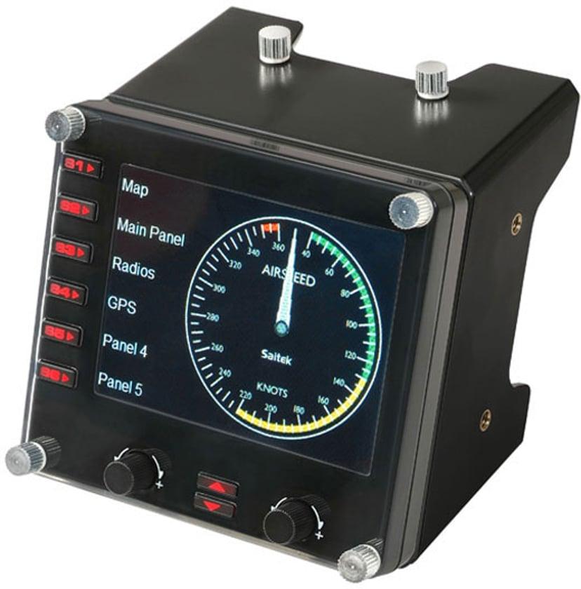 Logitech Saitek Pro Flight Instrument Panel Zwart