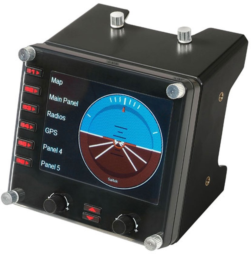 Logitech Pro Flight Instrument Panel Svart