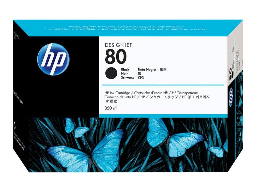 HP Blæk Sort No.80 - DJ 1050C/1055CM 350ml