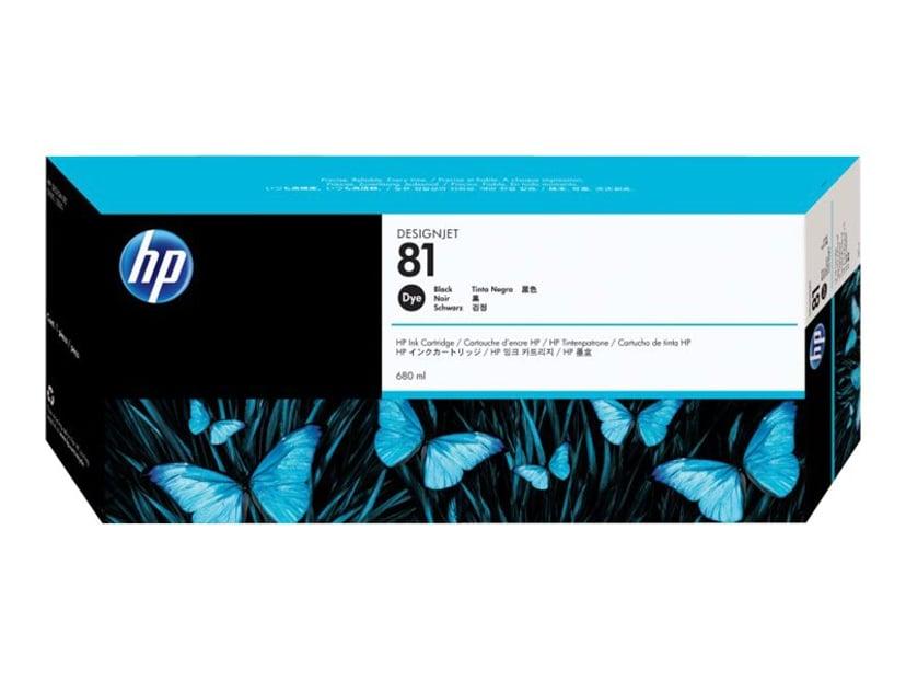 HP Blæk Sort No.81 - DJ 5000/5000PS/5500