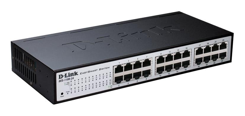 D-Link DES-1100-24 24-Port Fast Ethernet Smart Switch