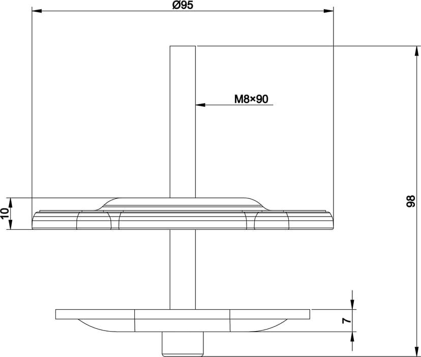 Multibrackets M VESA Deskmount Officeline