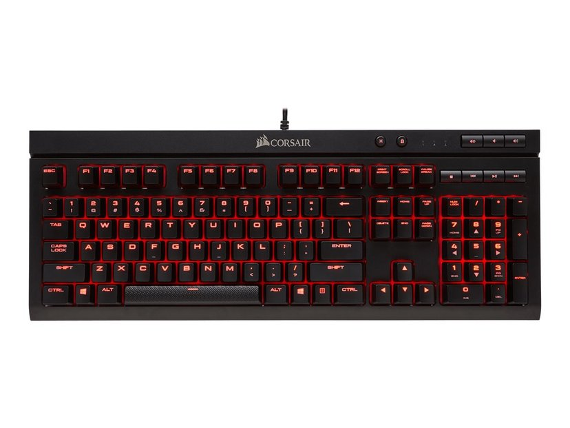 Corsair Gaming K68 Red LED Cherry Mx Red Tastatur Kablet Nordisk Svart