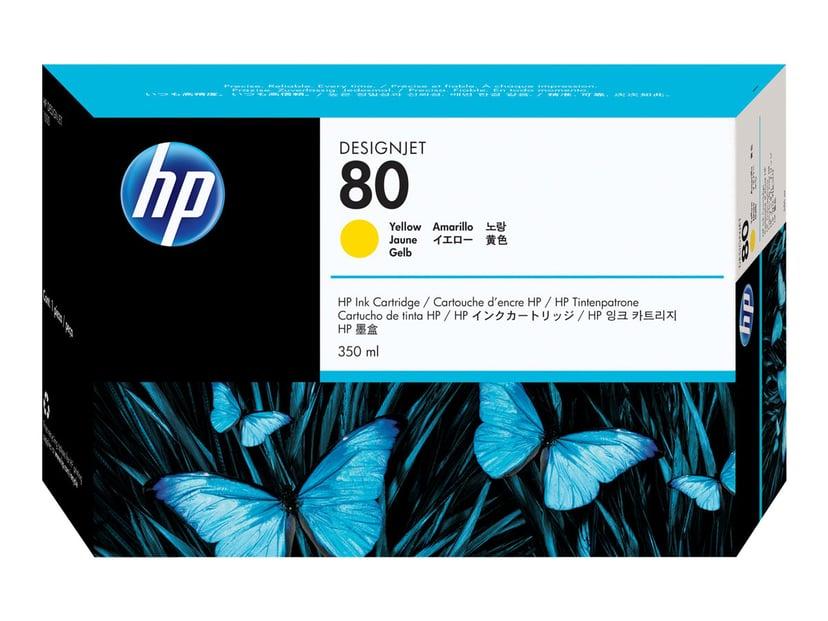 HP Blekk Gul No.80 - DJ 1050C/1055CM 350ml