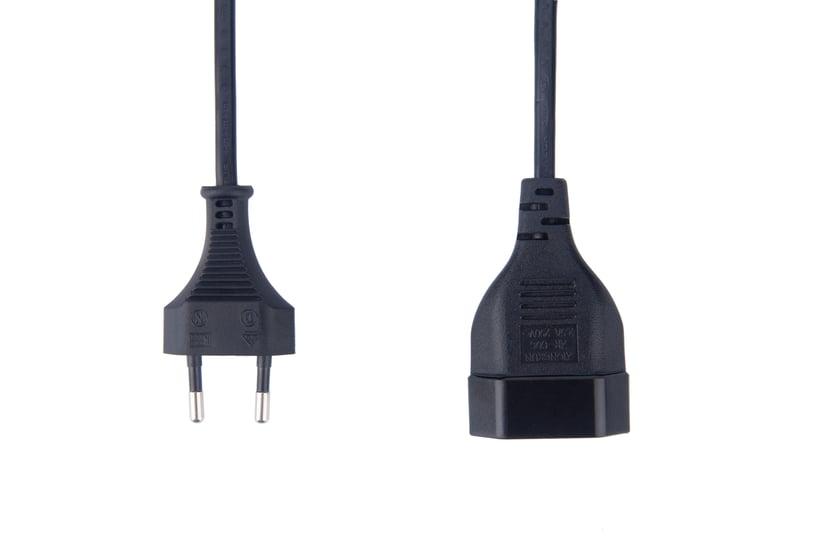 Prokord Strømforlengelseskabel 0.5m Europlug (strøm CEE 7/16) Hann Europlug (strøm CEE 7/16) Hunn