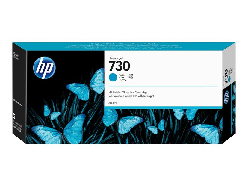 HP Blekk Cyan 730 300ml - DJ T1700