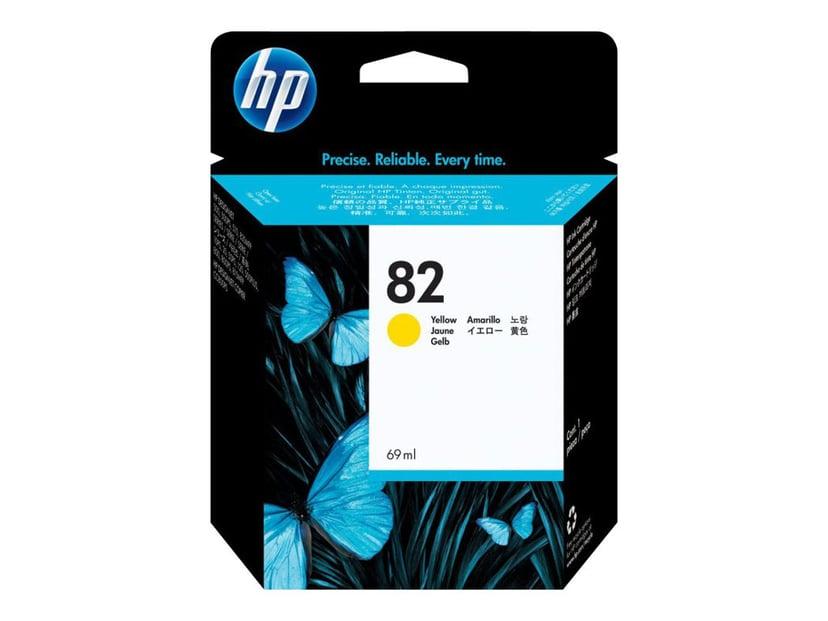 HP Muste Keltainen No.82 - DNJ 500/800