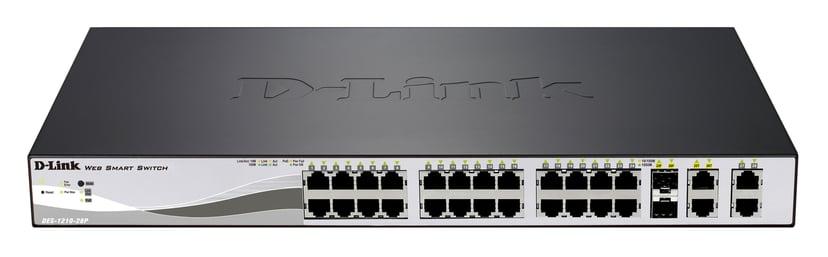 D-Link DES-1210-28P 24-Port FE PoE (193W) Smart Switch + 4GE