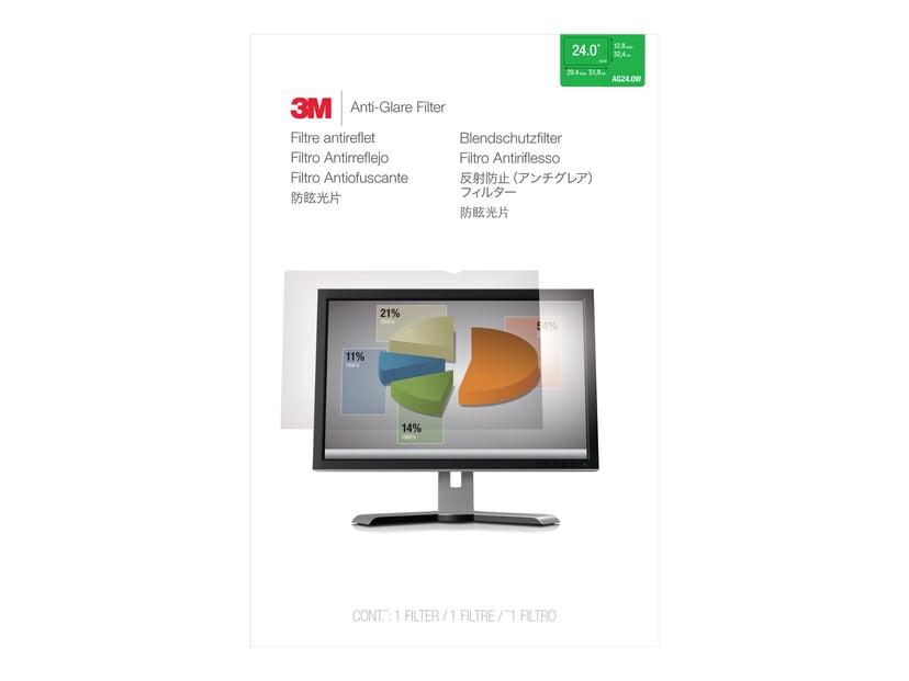 """3M Anti-Glare-filter til 24"""" widescreen-skærm (16:10) 24"""" 16:10"""