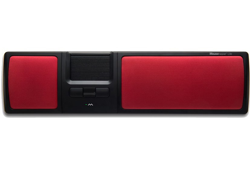 Mousetrapper Lite 1,500dpi Styrmatta Kabelansluten Röd, Svart