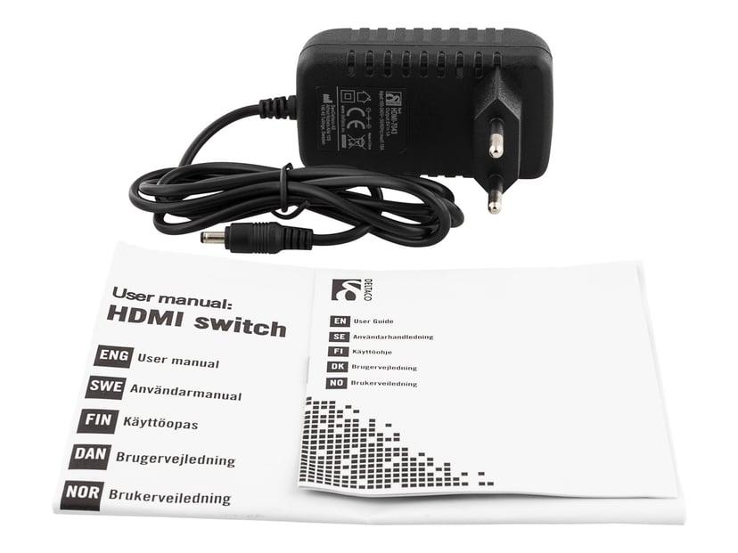 Deltaco HDMI-Switch 5X1 4K60hz