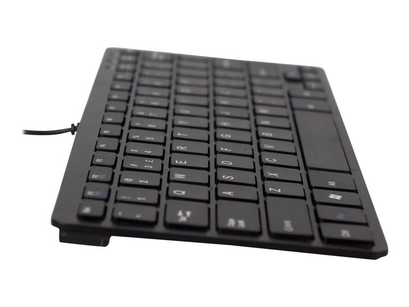R-Go Tools Compact Keyboard Tangentbord Kabelansluten Storbritannien Svart