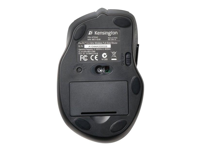 Kensington Pro Fit Full-Size Svart Mus Trådlös 1,200dpi