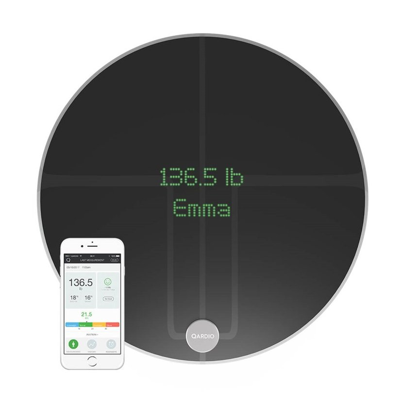 Qardio QardioBase 2 Wireless Smart Scale Volcanic Black