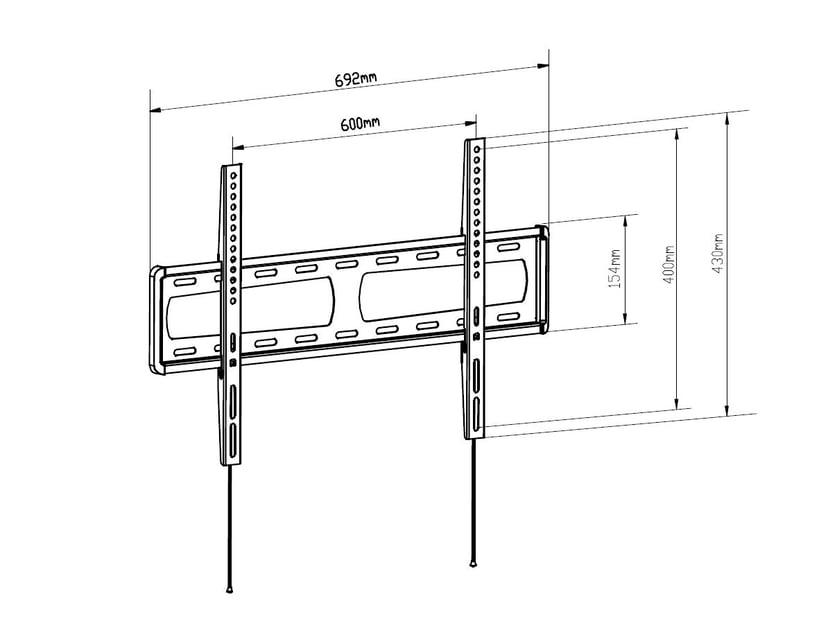Prokord Fixed Medium Wall Mount + Prokord HDMI 1.4 1,5m