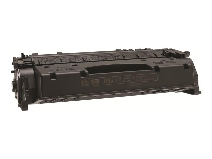 HP Toner Svart 6.5K - CE505XD 2-Pack