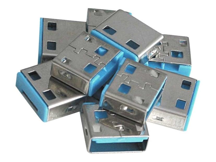 Lindy USB Port Blocker Blue 10-pack
