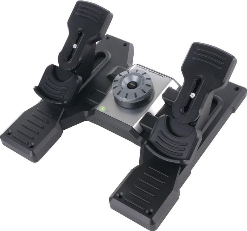 Logitech Pro Flight Rudder Pedals Svart