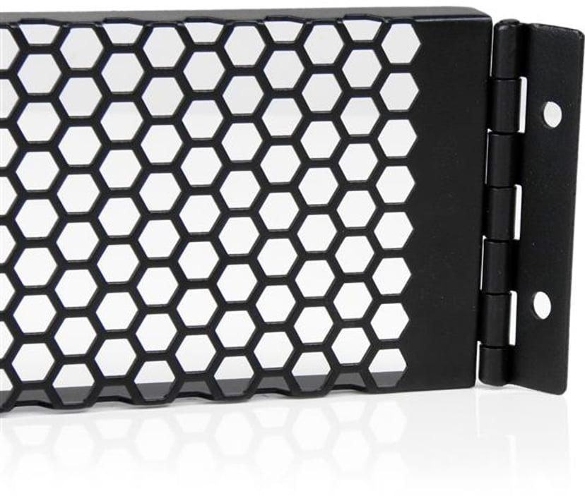 Startech 2U Hinged & Vented Blank Rack Panel