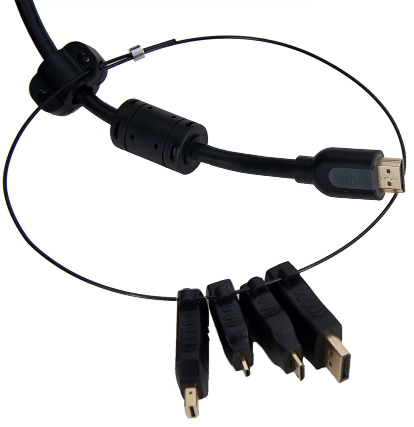 Prokord HDMI-Adapterring DisplayPort, DisplayPort Mini, HDMI Micro, HDMI Mini Hane HDMI Hona Svart
