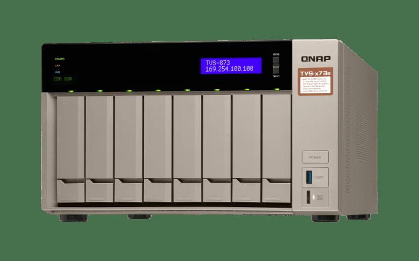 QNAP TVS-873E 8G 0TB NAS-server