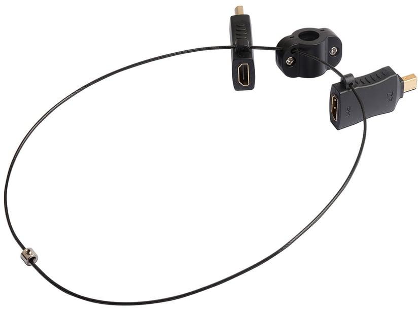 Prokord Video Adapter Kit DP DisplayPort, DisplayPort Mini Hann HDMI Hunn Svart