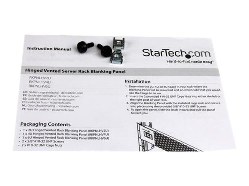 Startech 4U Vented Blank Panel with Hinge