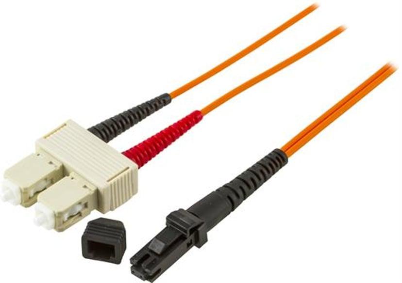 Deltaco Fiberoptisk kabel SC/PC MT-RJ OM1 1m