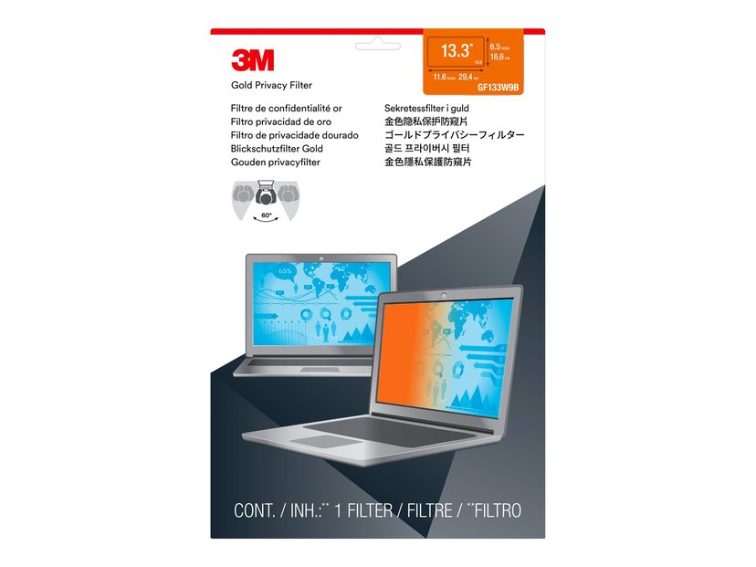 """3M Personvernfilter i gull for bærbar datamaskin med 13,3"""" widescreen 13.3"""" 16:9"""