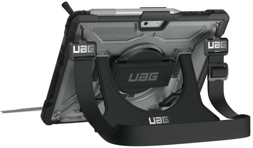 Urban Armor Gear UAG Plasma Case + Shoulder Strap Microsoft Surface Go Svart, Sølv