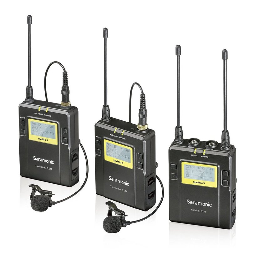 Saramonic Uhf Wireless Uvmic9 Package X2 Uwmic9 2Xtx9+Rx9
