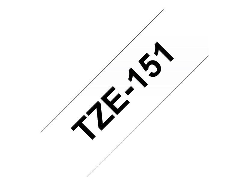 Brother Tape TZE-151 24mm Svart/Transparent