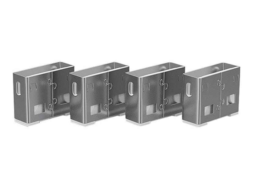 Lindy Port Blocker USB White 4-pack