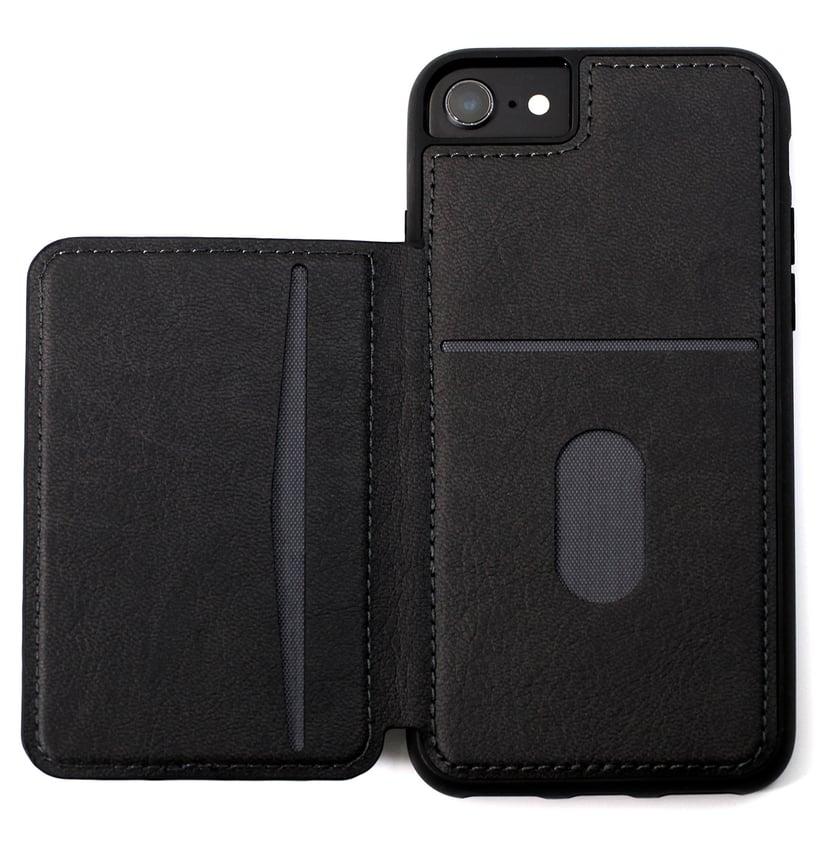 Cirafon Genuine Leather Flip Wallet iPhone 6/6s; iPhone 7; iPhone 8; iPhone SE (2020) Svart