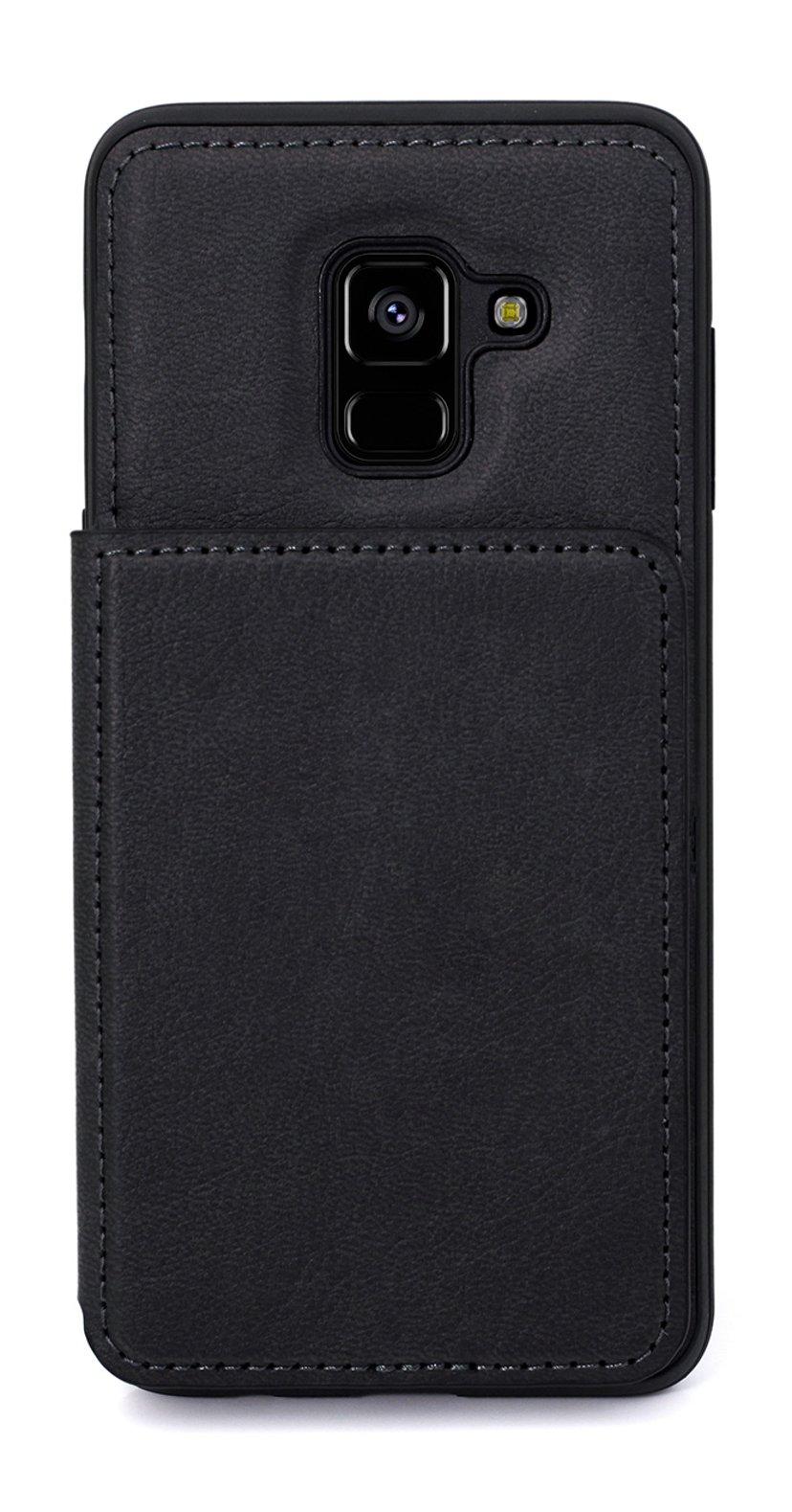 Cirafon Genuine Leather Flip Wallet Samsung Galaxy A8 (2018) Musta