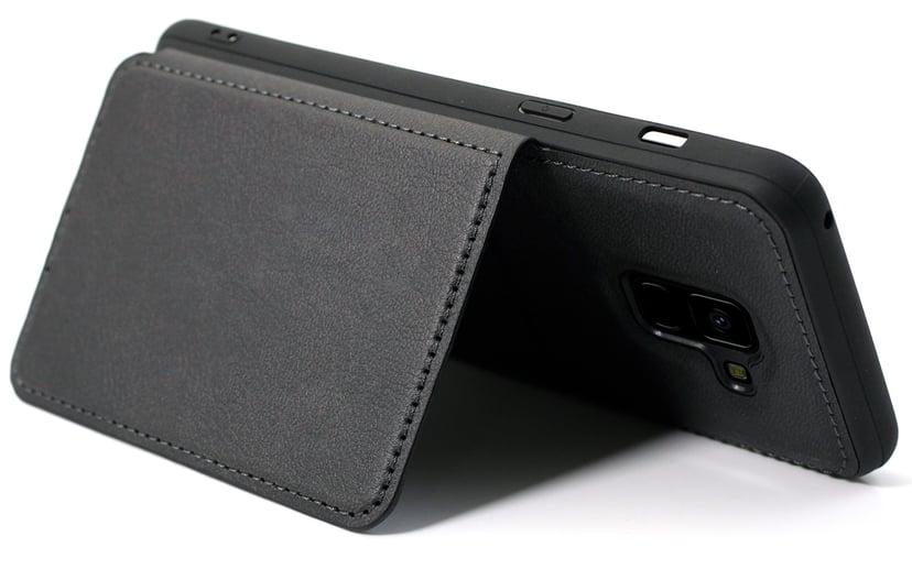 Cirafon Genuine Leather Flip Wallet Samsung Galaxy A8 (2018) Svart