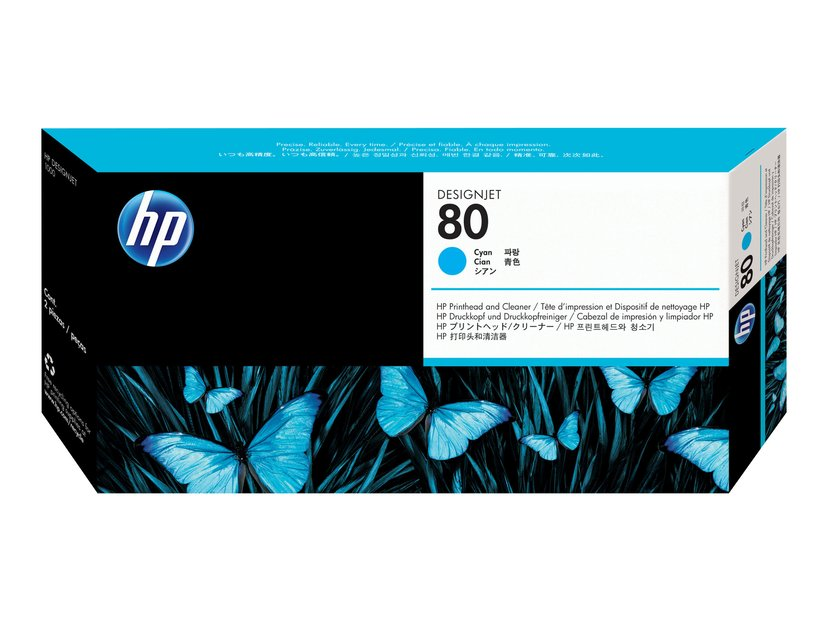 HP Printhead No.80 Cyan DJ 1050C/1055CM