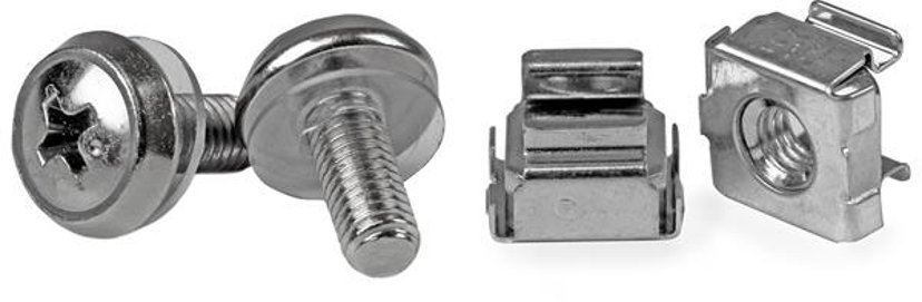 Startech 50 Pkg M5 Mounting Screws & Cage Nuts for Server Rack Cabinet