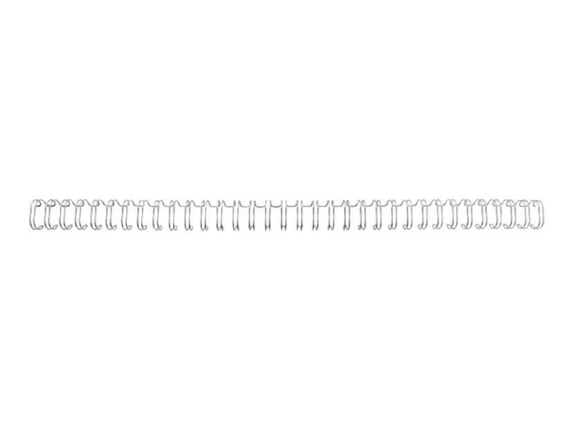 GBC Metallspiral 3:1 NO8 12.5mm A4 Sølv 100 stk
