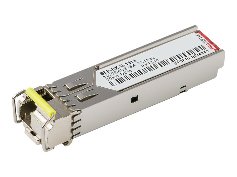 Pro Optix SFP-sändar/mottagarmodul (mini-GBIC) (likvärdigt med: Cisco GLC-BX-D-1513-20) Gigabit Ethernet