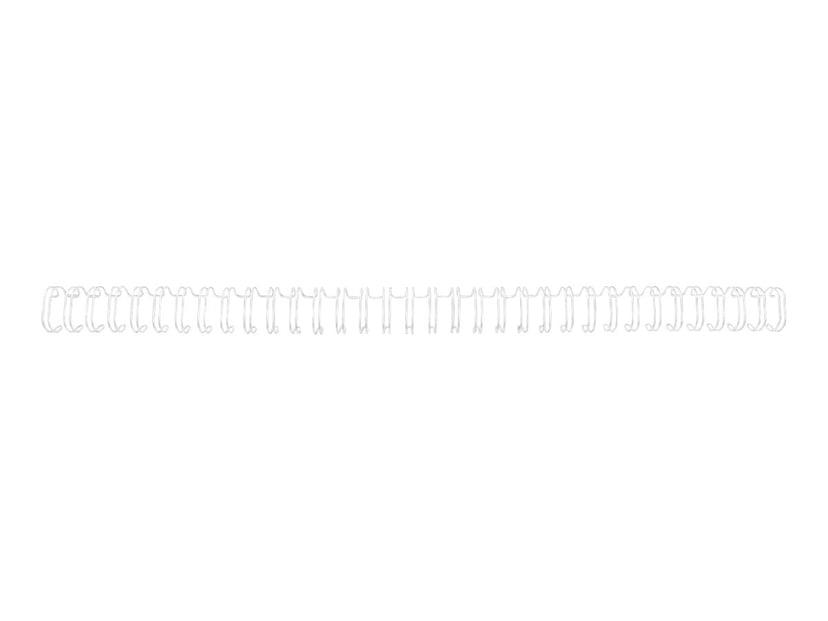 GBC Metallspiral 3:1 NO6 9.5mm A4 Hvit 100 stk