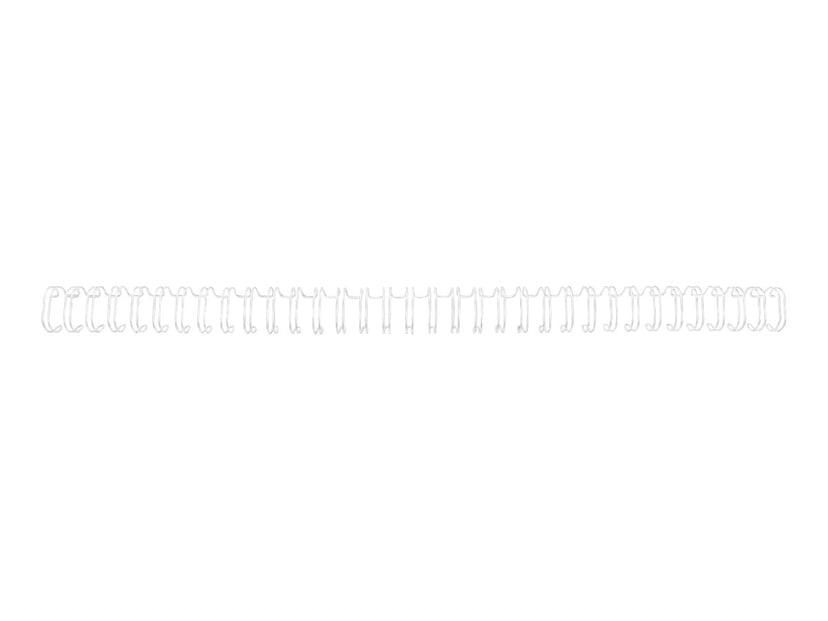 GBC Metallspiral 3:1 NO4 6mm A4 Hvit 100 stk