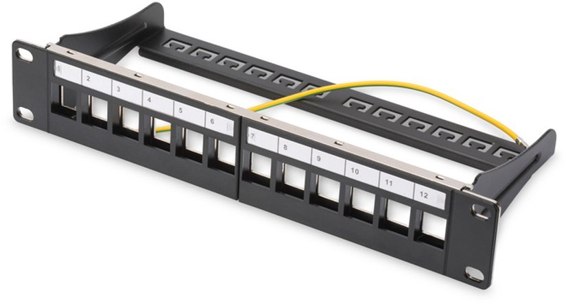 Digitus Patchpanel 12 portar Shielded twisted pair (STP)