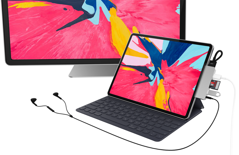 Hyper HyperDrive 6-in-1 USB-C Hub for iPad Pro - Space Gray