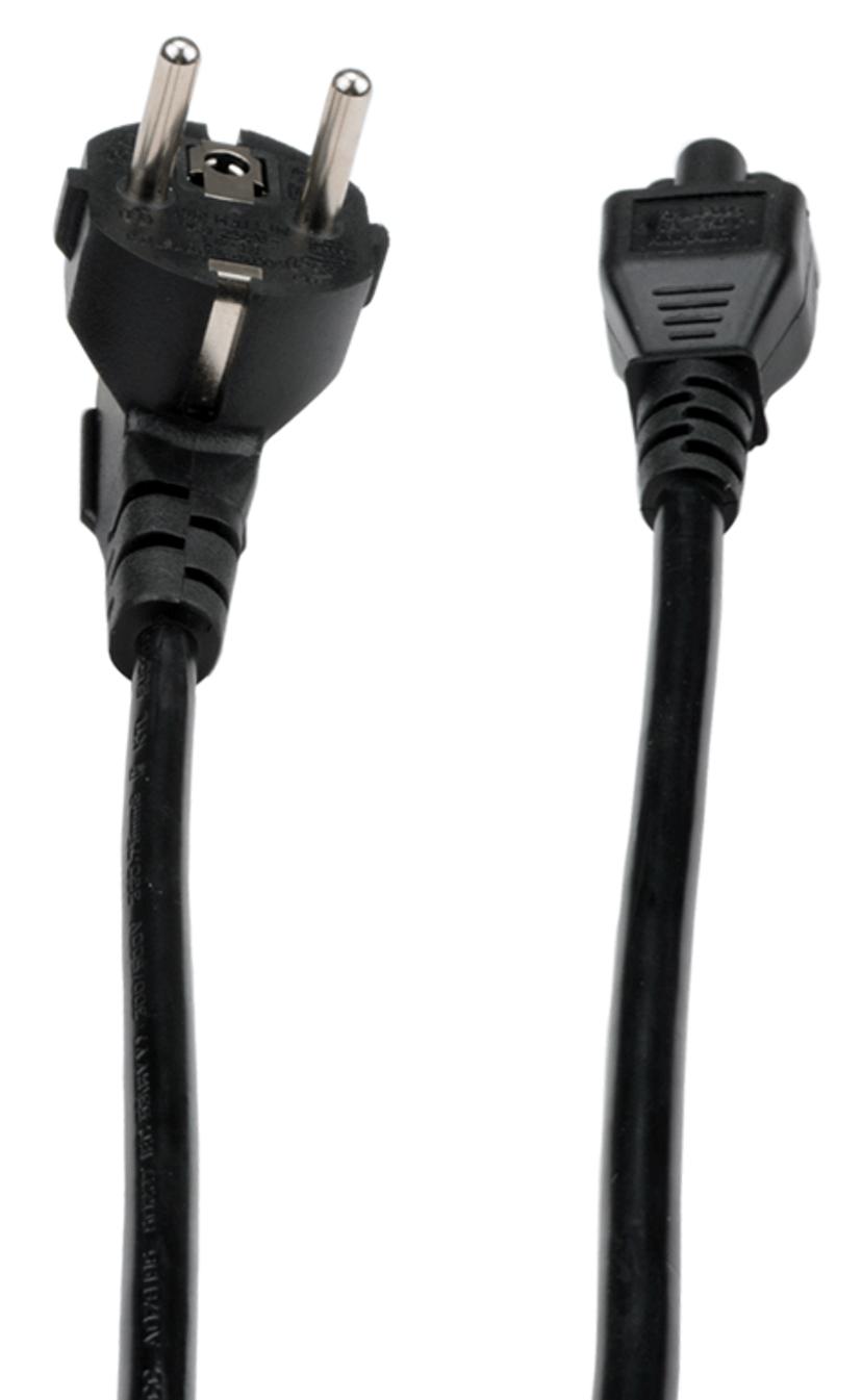 Prokord Strömkabel 1m Ström CEE 7/7 Hane Ström IEC 60320 C5