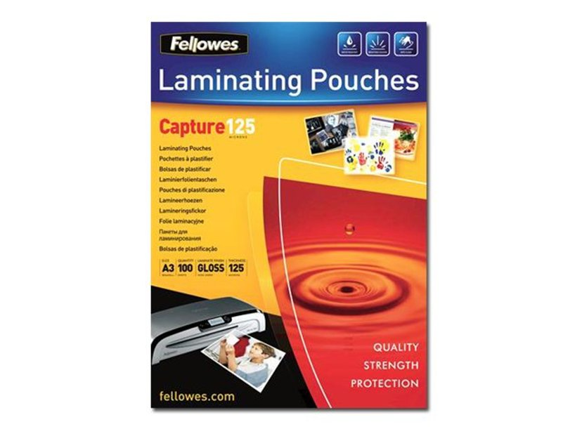 Fellowes Lamineringsficka 125mic A3 100st
