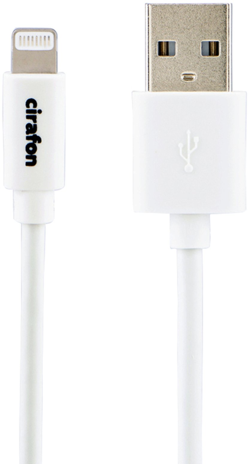 Cirafon Cirafon AM To Lightning Cable 0.15m - White - New Mfi 0.15m Valkoinen