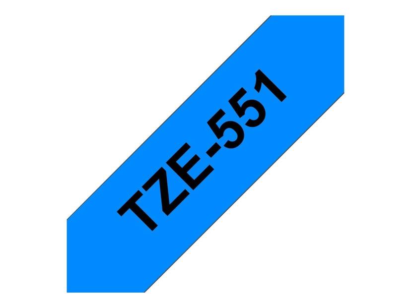 Brother Tape TZe-551 24mm Svart/Blå