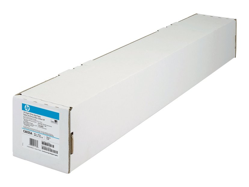 """HP Papir Bright White 24"""" Rulle 45m 90g, Ink"""