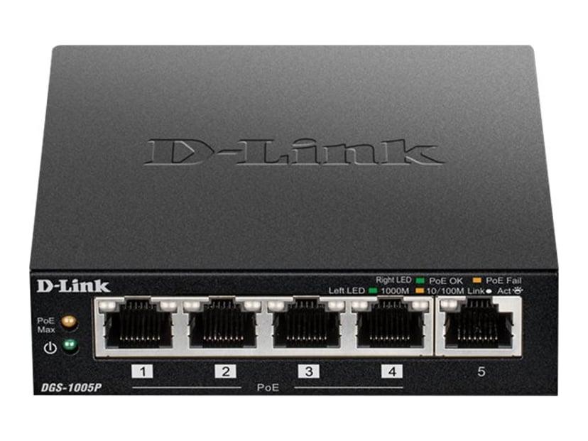 D-Link DGS-1005P Gigabit PoE+ Switch 60W